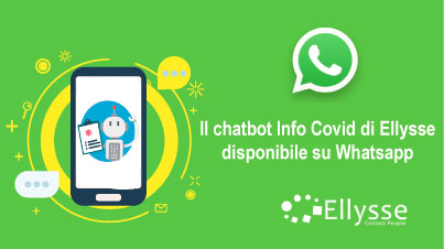 Il chatbot Info Covid-19 di Ellysse disponibile su Whatsapp