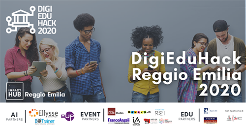 #DigiEduHack Reggio Emilia 2020: Ellysse e BOTrainer main sponsor